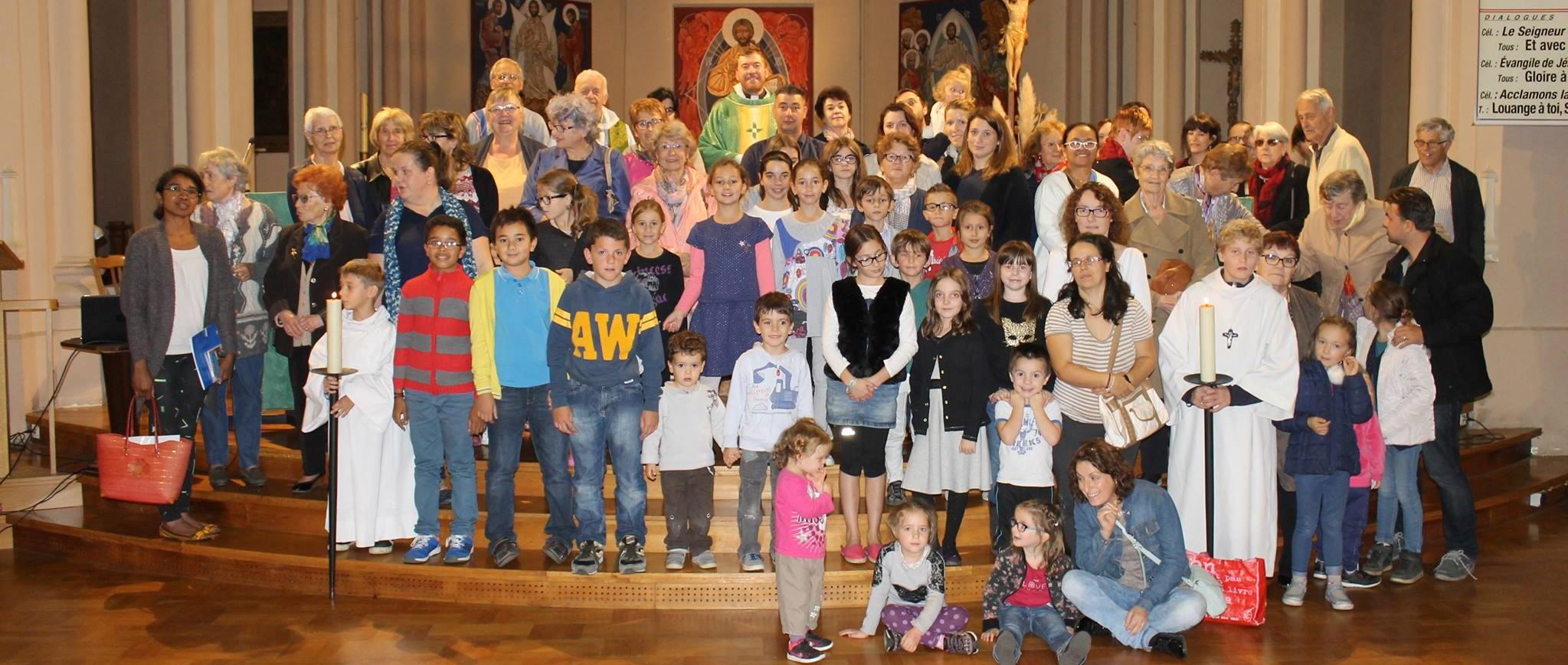 Groupe de paroissiens de Saint-privat