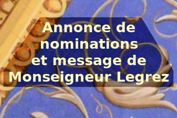Nominations et communiqué