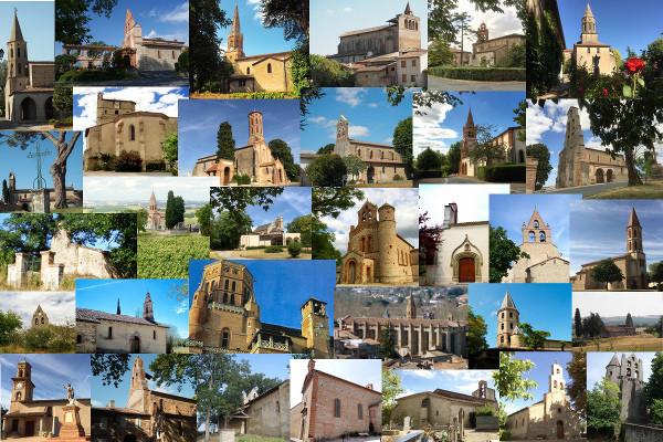 Les 32 églises de la paroisse